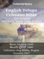 English Telugu Cebuano Bible - The Gospels - Matthew, Mark, Luke & John