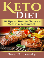 Keto Diet. 10 Tips on How to Choose a Meal in a Restaurant