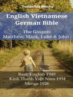 English Vietnamese German Bible - The Gospels - Matthew, Mark, Luke & John