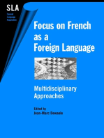 Focus on French as a Foreign Language: Multidisciplinary Approaches