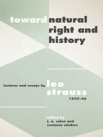 "Toward ""Natural Right and History"""