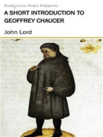 A Short Introduction to Geoffrey Chaucer