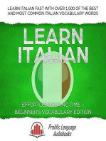 Learn Italian Effortlessly in No Time – Beginner's Vocabulary Edition