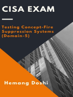 CISA Exam - Testing Concept-Fire Suppression Systems (Domain-5)