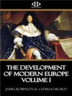 The Development of Modern Europe Volume I