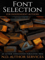 Font Selection for Independent Authors