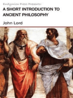 A Short Introduction to Ancient Philosophy