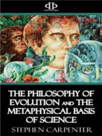 The Philosophy of Evolution and the Metaphysical Basis of Science