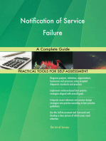 Notification of Service Failure A Complete Guide