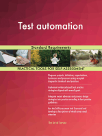 Test automation Standard Requirements