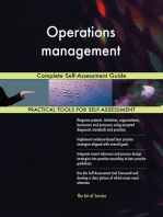 Operations management Complete Self-Assessment Guide