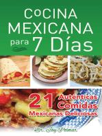 Cocina Mexican Para 7 Dias -