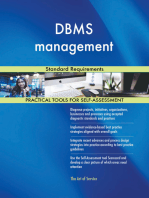 DBMS management Standard Requirements
