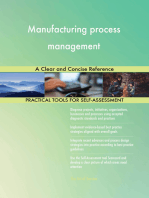 Manufacturing process management A Clear and Concise Reference