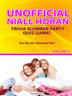 Unofficial Niall HoranTrivia Slumber Party Quiz Game Volume 3