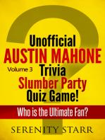 Unofficial Austin Mahone Trivia Slumber Party Quiz Game Volume 3