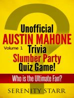 Unofficial Austin Mahone Trivia Slumber Party Quiz Game Volume 1