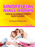 Unofficial Niall Horan Trivia Slumber Party Quiz Game Volume 1