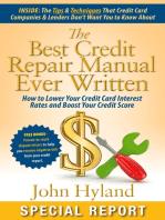 The Best Credit Repair Manual Ever Written