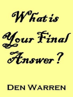 What is Your Final Answer?