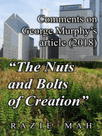 "Comments on George Murphy's Article (2018) ""The Nuts and Bolts of Creation"""