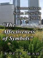 "Comments on Sasha Newell's Article (2018) ""The Affectiveness of Symbols"""