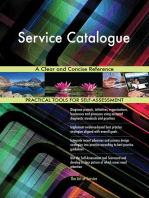 Service Catalogue A Clear and Concise Reference