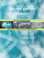 Business process validation Standard Requirements