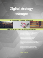 Digital strategy manager A Clear and Concise Reference