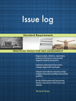 Issue log Standard Requirements