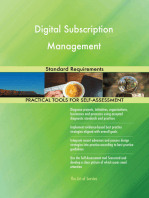 Digital Subscription Management Standard Requirements