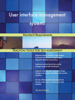 User interface management systems Standard Requirements