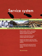 Service system Standard Requirements