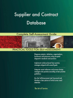 Supplier and Contract Database Complete Self-Assessment Guide