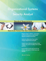 Organizational Systems Security Analyst Standard Requirements