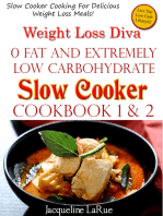 Weight Loss Diva 0 Fat Extremely Low Carbohydrate Slow Cooker Cookbook Book 1