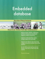 Embedded database Standard Requirements