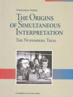 The Origins of Simultaneous Interpretation: The Nuremberg Trial