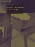 Common ground: Contemporary craft, architecture and the decorative arts