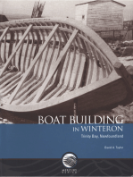 Boat building in Winterton, Trinity Bay, Newfoundland