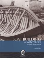 Boat building in Winterton, Trinity Bay, Newfoundland