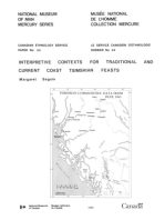 Interpretive contexts for traditional and current coast Tsimshian feasts