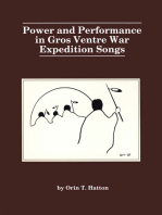 Power and performance in Gros Ventre war expedition songs