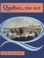 Québec 1765-1832: L'évolution d'une ville coloniale
