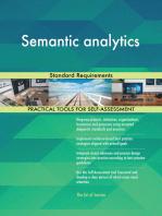 Semantic analytics Standard Requirements