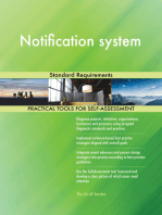 Notification system Standard Requirements