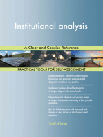 Institutional analysis A Clear and Concise Reference