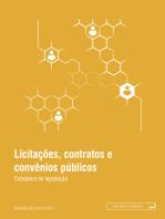 Licitações, contratos e convênios públicos