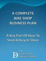 A Complete Bike Shop Business Plan
