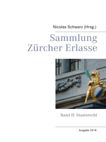 Sammlung Zürcher Erlasse: Band II: Staatsrecht